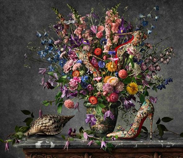 Christian Louboutin SS Printemps Ete 2014 Fleurs Natures mortes peter lippmann 6 - Campagne Christian Louboutin Printemps Été 2014 : Fleurs et Escarpins par Peter Lippmann