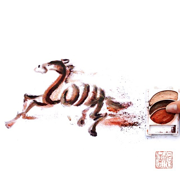 Dessins-Illustrations-Nouvel-An-Chinois-Maquillage-Red-Hong-Yi-01