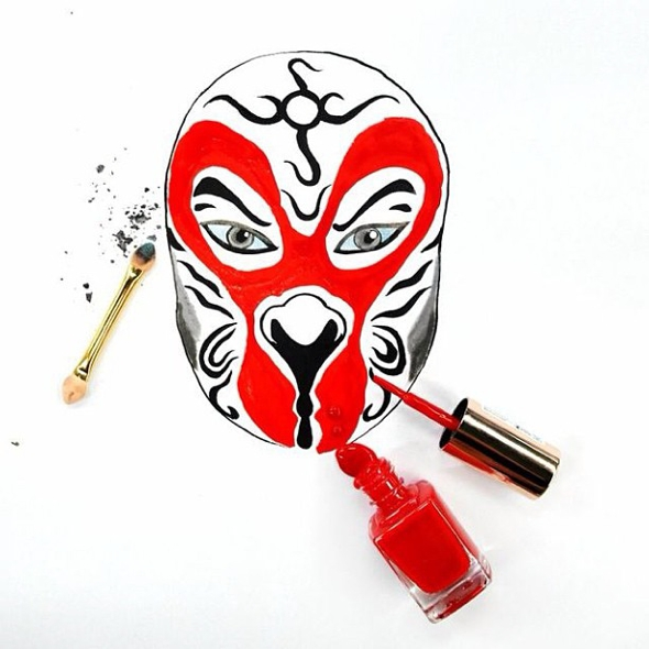 Dessins-Illustrations-Nouvel-An-Chinois-Maquillage-Red-Hong-Yi-06