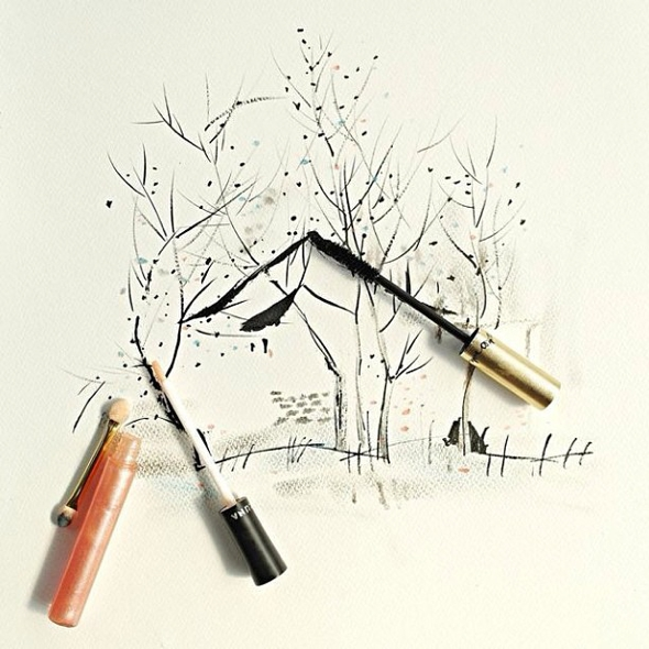 Dessins-Illustrations-Nouvel-An-Chinois-Maquillage-Red-Hong-Yi-11