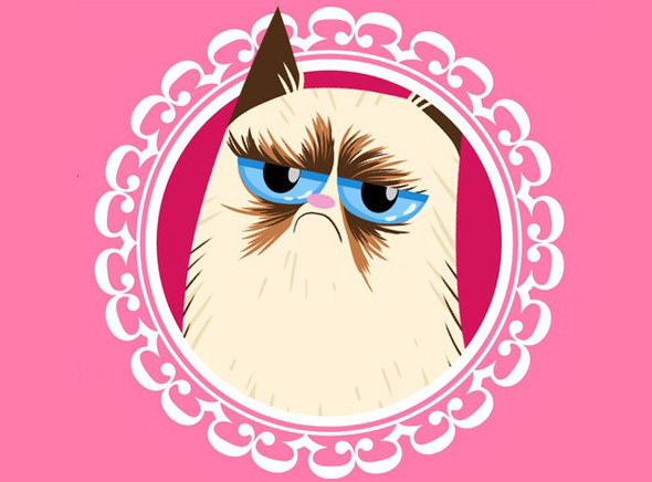 , Le Chat Grumpy Cat et ses 11 Amusantes Cartes Saint Valentin