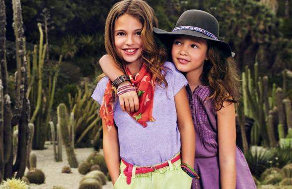 , Mango Kids Printemps Eté 2014 : Lookbook Enfants dans un Jardin de Cactus