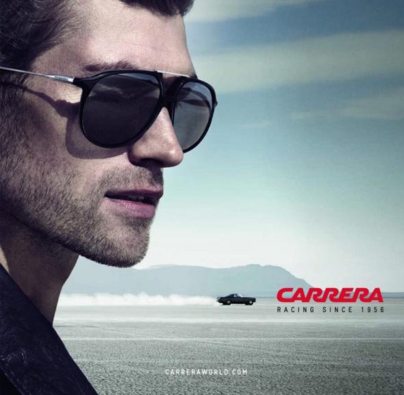 , Campagne Carrera Ete 2014 : Lunettes de Soleil et Course Automobile