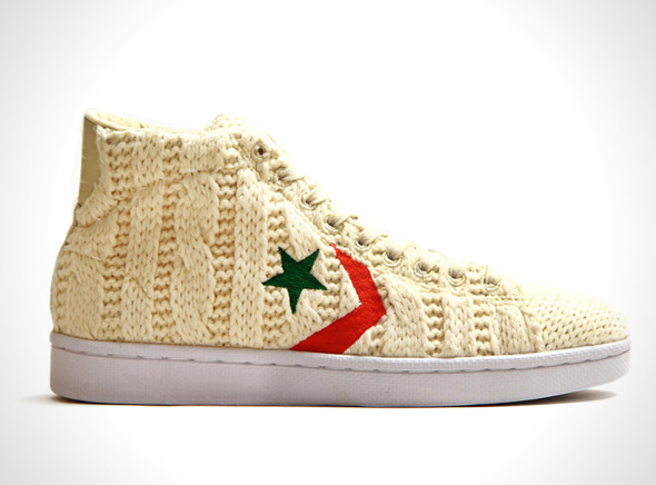 "Concepts Converse Pro Leather Hi Aran Sweater Basket Cuir Tricot 1 Concepts x Converse Pro Leather Hi ""Aran Sweater"" : Baskets en Cuir Tricoté"