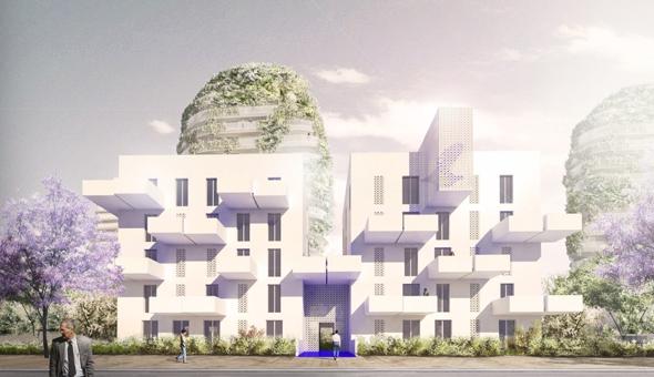 un quartier végétal à Casablanca par Edouard Francois