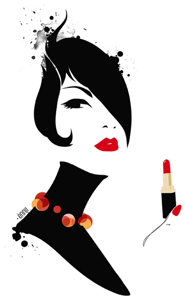 illustrations-mode-ennji-dessin-silhouette-feminines-rouge-noir-00