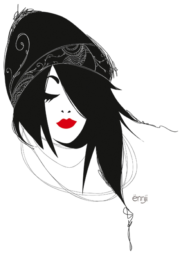 illustrations-mode-ennji-dessin-silhouette-feminines-rouge-noir-04