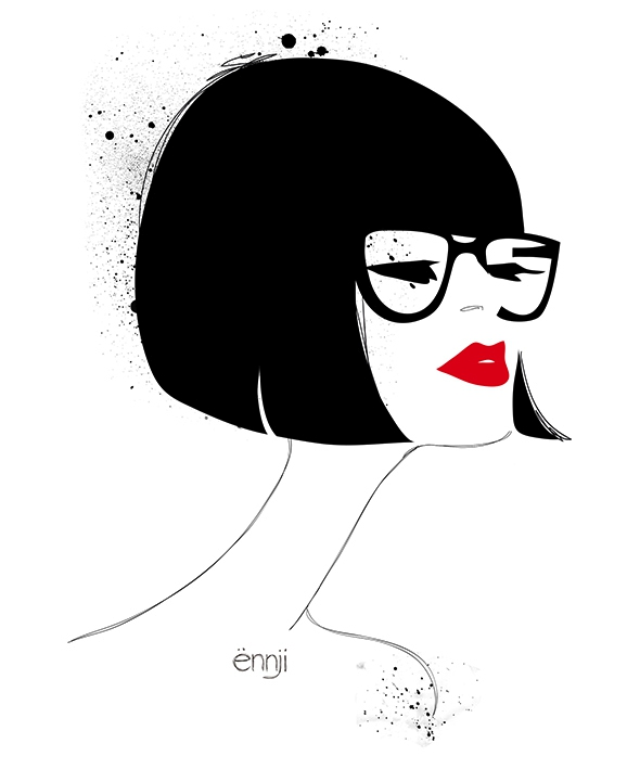 illustrations-mode-ennji-dessin-silhouette-feminines-rouge-noir-09