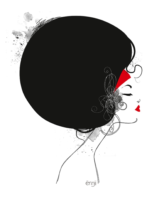 illustrations-mode-ennji-dessin-silhouette-feminines-rouge-noir-14