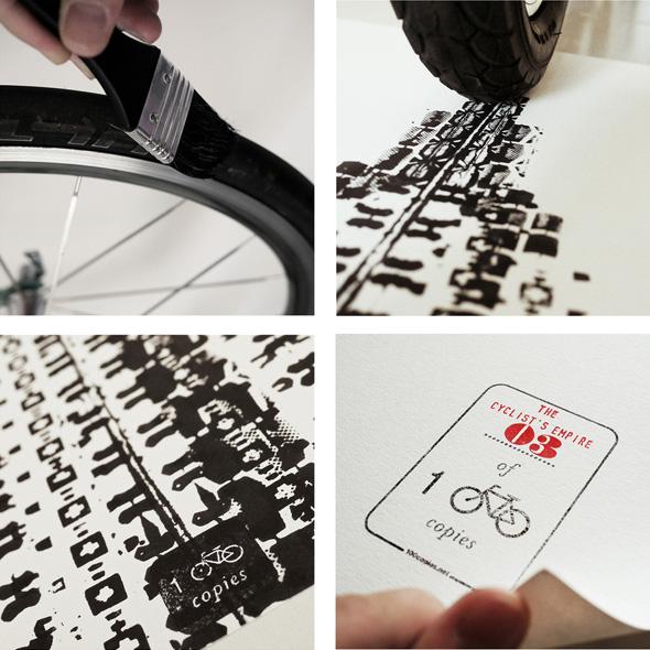 thomas yang the cyclists empire 100copies affiche velo traces 3 - Étonnante Affiche de l'Empire State Building Peinte avec des Traces de Vélos