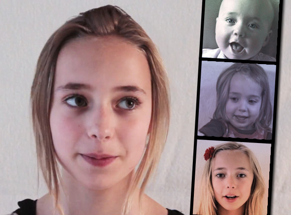 Frans HofmeesterFilm Lotte Fille Time Lapse Il Filme sa Fille Lotte en Time Lapse de sa Naissance à ses 14 ans (video)
