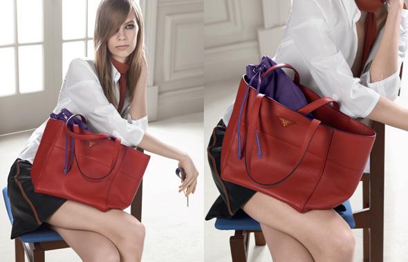 , Prada Femme Pre Fall Hiver 2014 : Campagne avec Lexi Boling et le Double Bag
