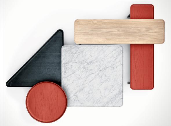 , Cassina Torei Family : Tables Modulables Retro, Artistiques et Pratiques