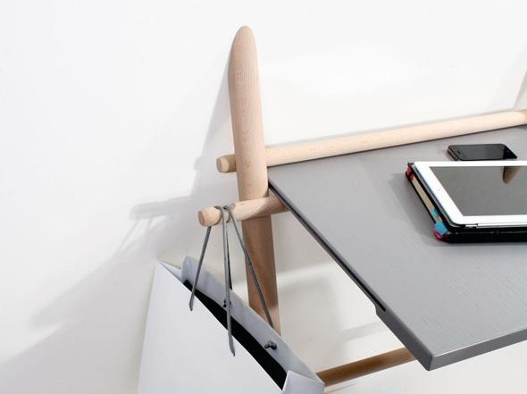 Meuble bureau pliable bureau bois et noir homeo textiles