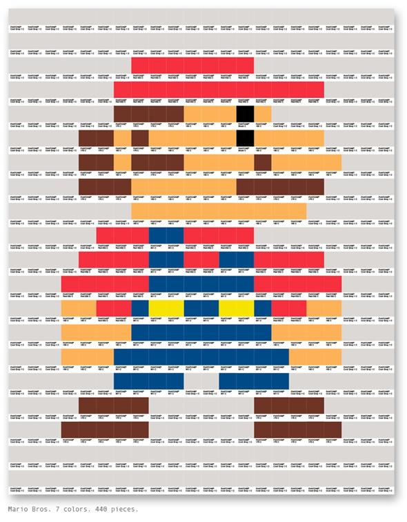 , Les Codes du Nuancier Pantone s'Illustrent en Pixel Art par Txaber