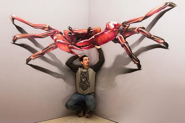 , Spectaculaires Peintures 3D au Réalisme Bluffant par Brain Mash