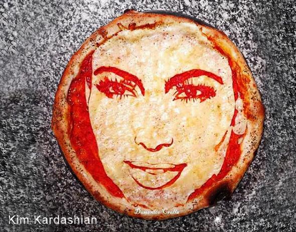 domenico crolla pizza portrait celebrite 3 - Pizza Art par Domenico Crolla, Portraits de Célébrités à Savourer !
