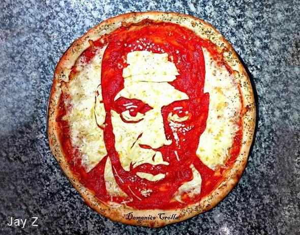 domenico crolla pizza portrait celebrite 6 - Pizza Art par Domenico Crolla, Portraits de Célébrités à Savourer !