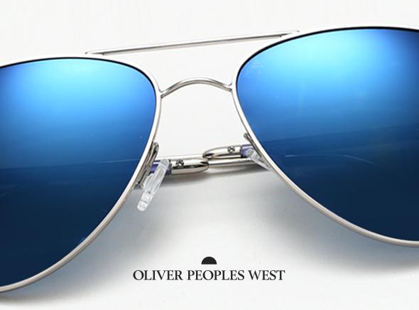 698e7db576374c Oliver Peoples West Ete 2014   6 Lunettes de Soleil Bleues Miroir de ...