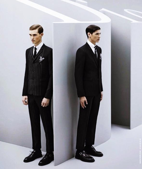 , Dior Homme Hiver 2014 2015, un Logo Geant dans la Campagne