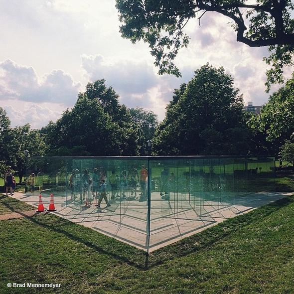 , The Glass Labyrinth, Pyramide de Verre en Labyrinthe à Kansas City
