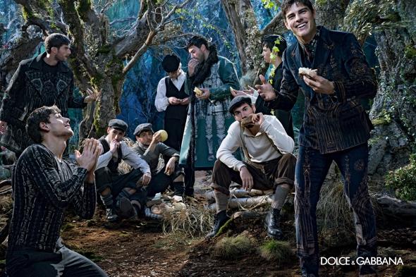 , Dolce Gabbana Hommes Hiver 2014 2015, Pique-Nique en Foret pour Tous !