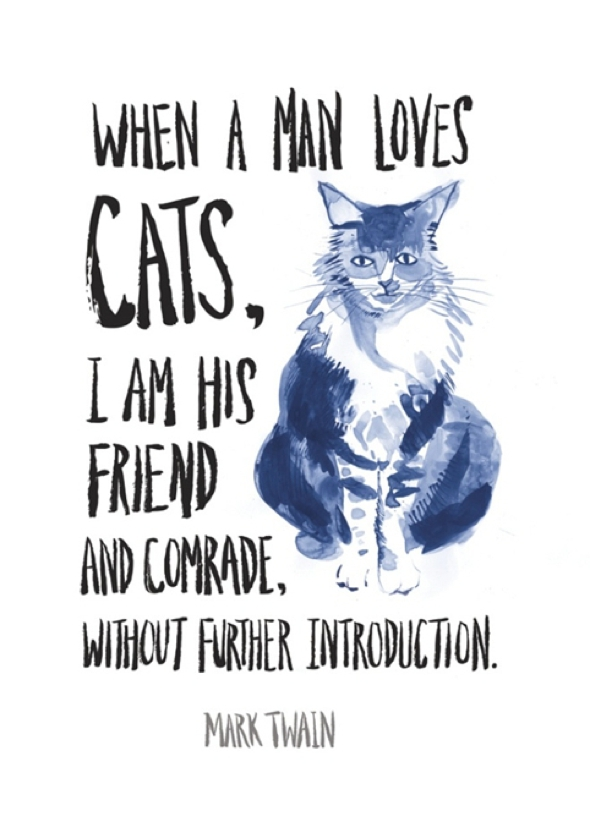 , Illustrations et Citations d'Artistes et Ecrivains Inspirés par leur Chats