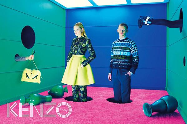 kenzo fw hiver 2015 2014 campagne 1 - David Lynch inspire Kenzo pour un Hiver 2014 2015 Surréaliste (video)