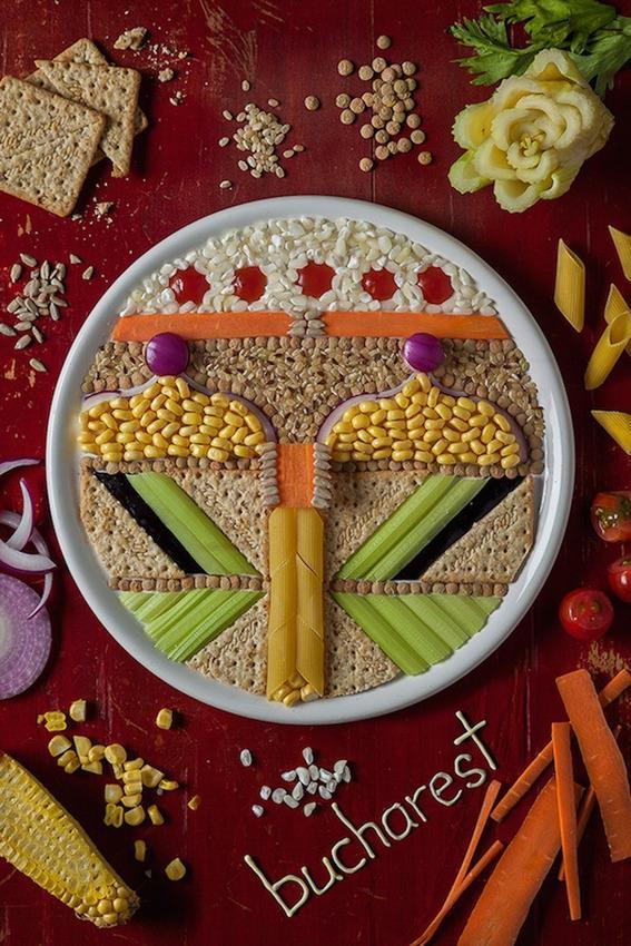 , Les Capitales de l'Europe de l'Est vues par une Food Artist