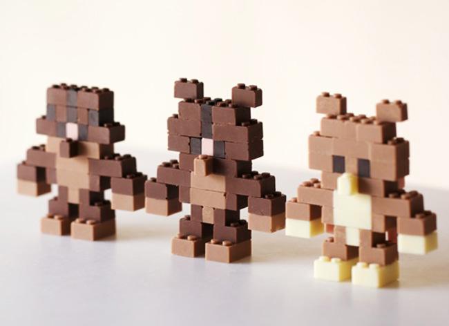 lego chocolat akihiro mizuuchi 1 - Avec les Legos en Chocolat, Jouer devient une Gourmandise