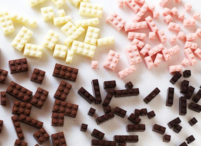 , Avec les Legos en Chocolat, Jouer devient une Gourmandise