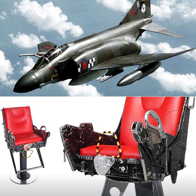, MotoArt Recycle les Avions de Chasse et Boeing en Mobilier Design
