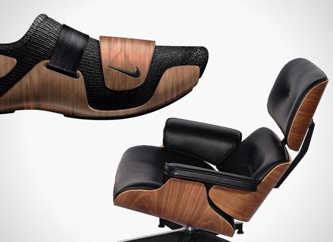 , L'Iconique Fauteuil Eames Lounge réinterprété en Basket Nike