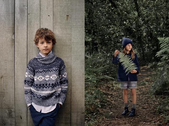 Pour l'Hiver Zara Enfant fait sa Rentrée des Classes en Foret