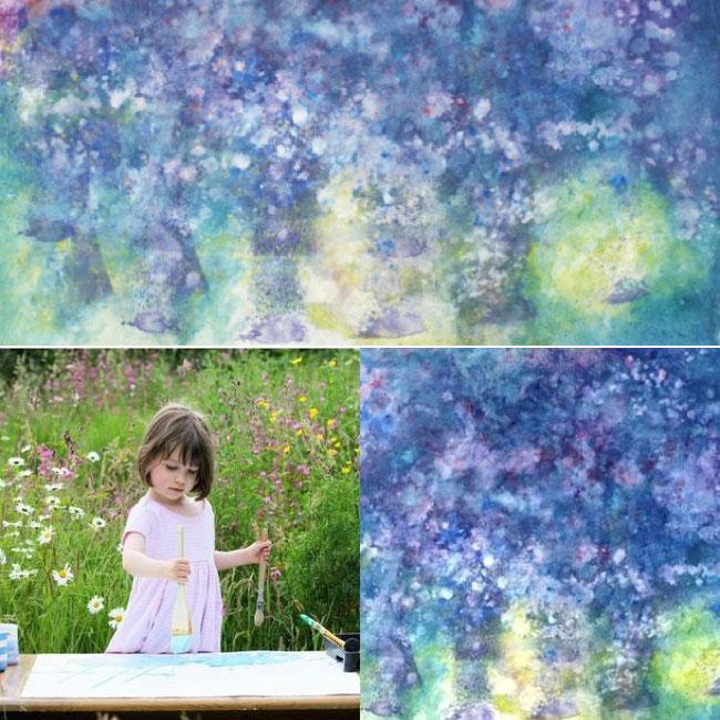, A 5 ans, cette Adorable Petite Fille Autiste est une Vraie Artiste Peintre