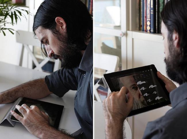 , Il Crée du Bout des Doigts sur son iPad des Dessins Photoréalistes