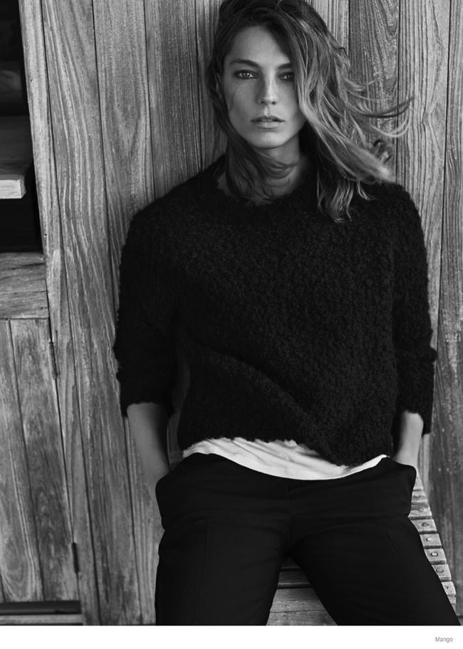 , Pour l'Hiver Mango invite Daria Werbowy dans les Hamptons
