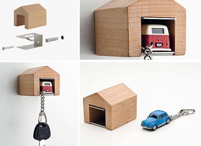 Mini Garage Porte-clés, Astucieux Mini Garage pour Garer vos Clés de Voiture