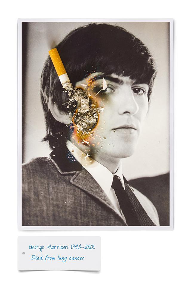 smoking kills cigarette fumer tue celebrite cancer mr dirns 00 - Smocking Kill, Séries de Portraits de Célébrités partis en Fumée