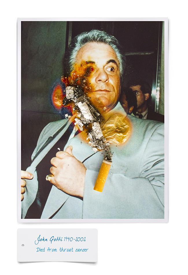 smoking kills cigarette fumer tue celebrite cancer mr dirns 01 - Smocking Kill, Séries de Portraits de Célébrités partis en Fumée