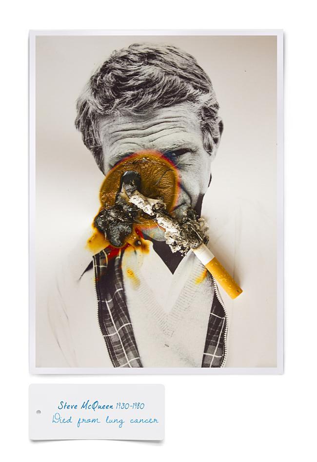 smoking kills cigarette fumer tue celebrite cancer mr dirns 04 - Smocking Kill, Séries de Portraits de Célébrités partis en Fumée