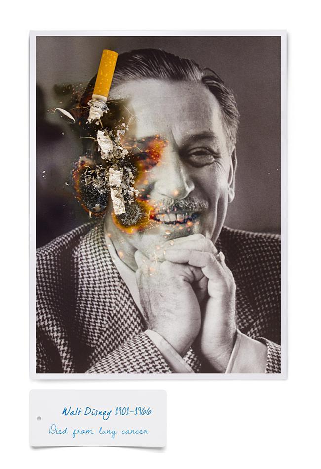 smoking kills cigarette fumer tue celebrite cancer mr dirns 05 - Smocking Kill, Séries de Portraits de Célébrités partis en Fumée