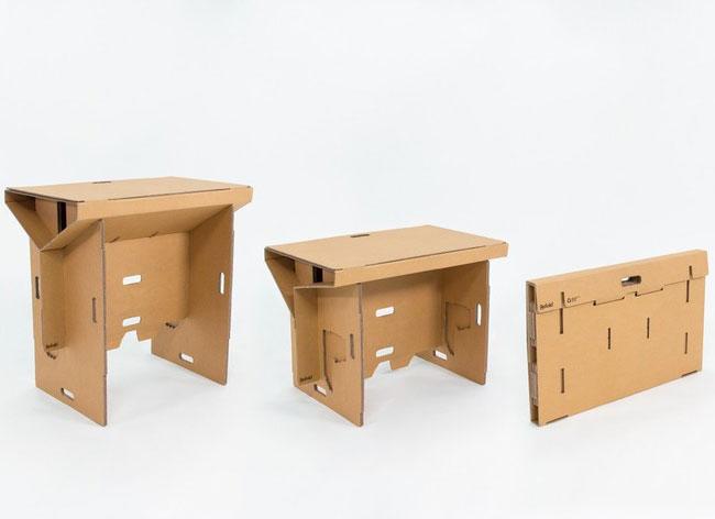 , Refold, un Vrai Bureau en Carton Pliable et Transportable (video)