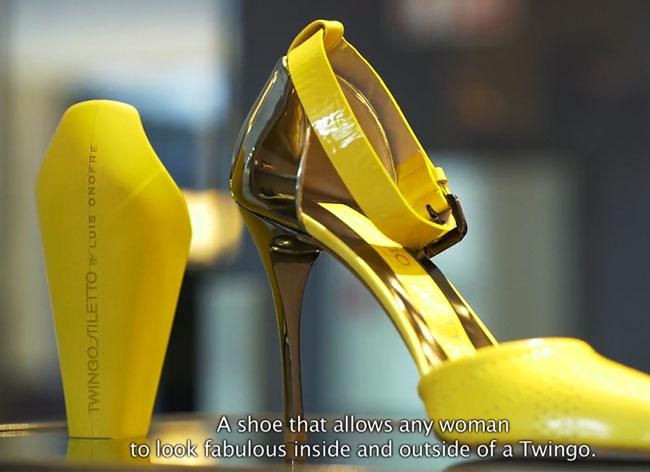 , Renault Twingo Stilletos, la Voiture et ses Chaussures à Talon Interchangeable (video)