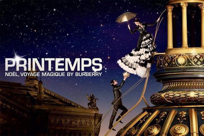 , Le Printemps Celebre Noël 2014 sur les Toits de Paris