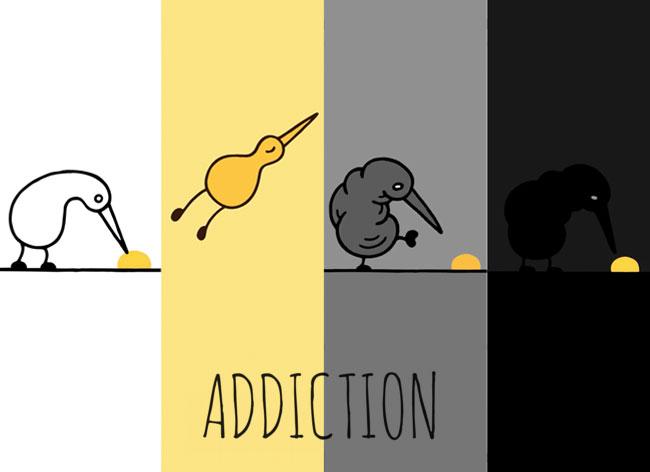 Les Ravages de l'Addiction vus par Kiwi le Petit Oiseau (video)