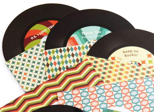 , Ces Disque Vinyle 45 Tours sont des Cartes de Voeux