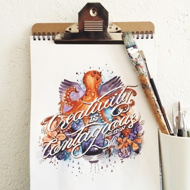, Citations Calligraphiques sur Aquarelles ou l'Art de Mieux Vivre