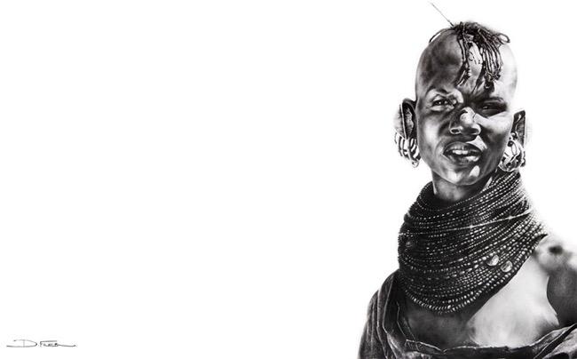 david filer dessin crayon afrique animaux sauvages 5 - Avec ses Crayons, David Filer Illustre avec Réalisme la Vie Sauvage en Afrique