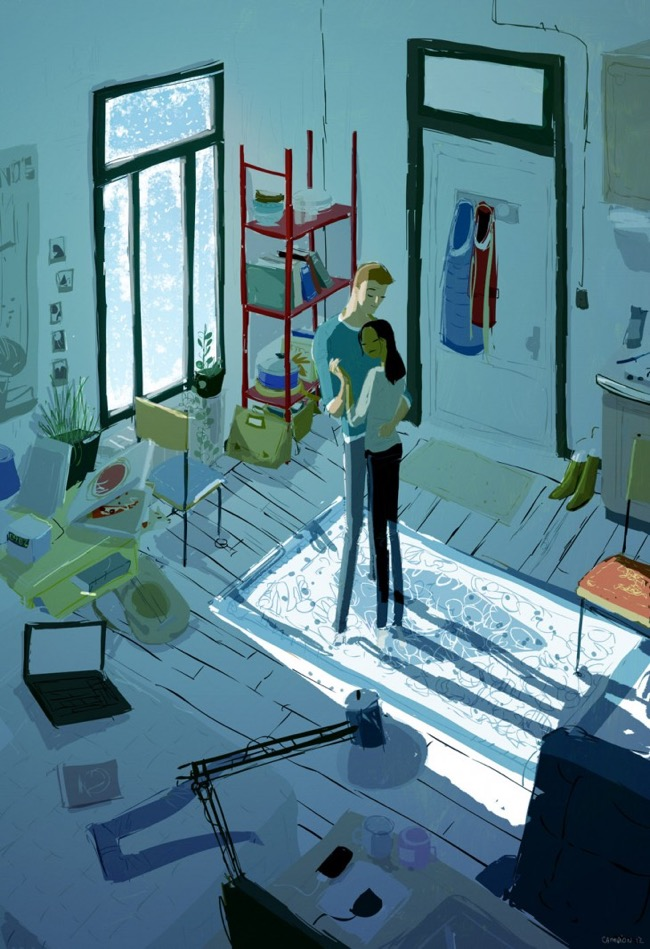 , Le Bonheur c'est Simple comme une Illustration de Pascal Campion